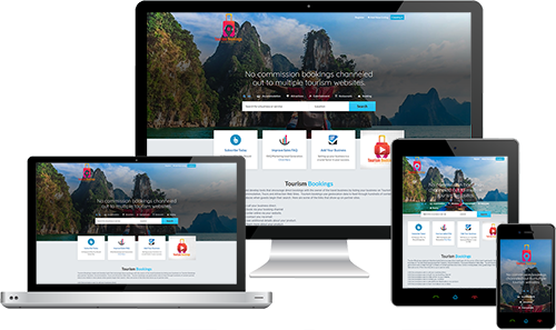 Tourism Bookings displayed beautifully on multiple devices