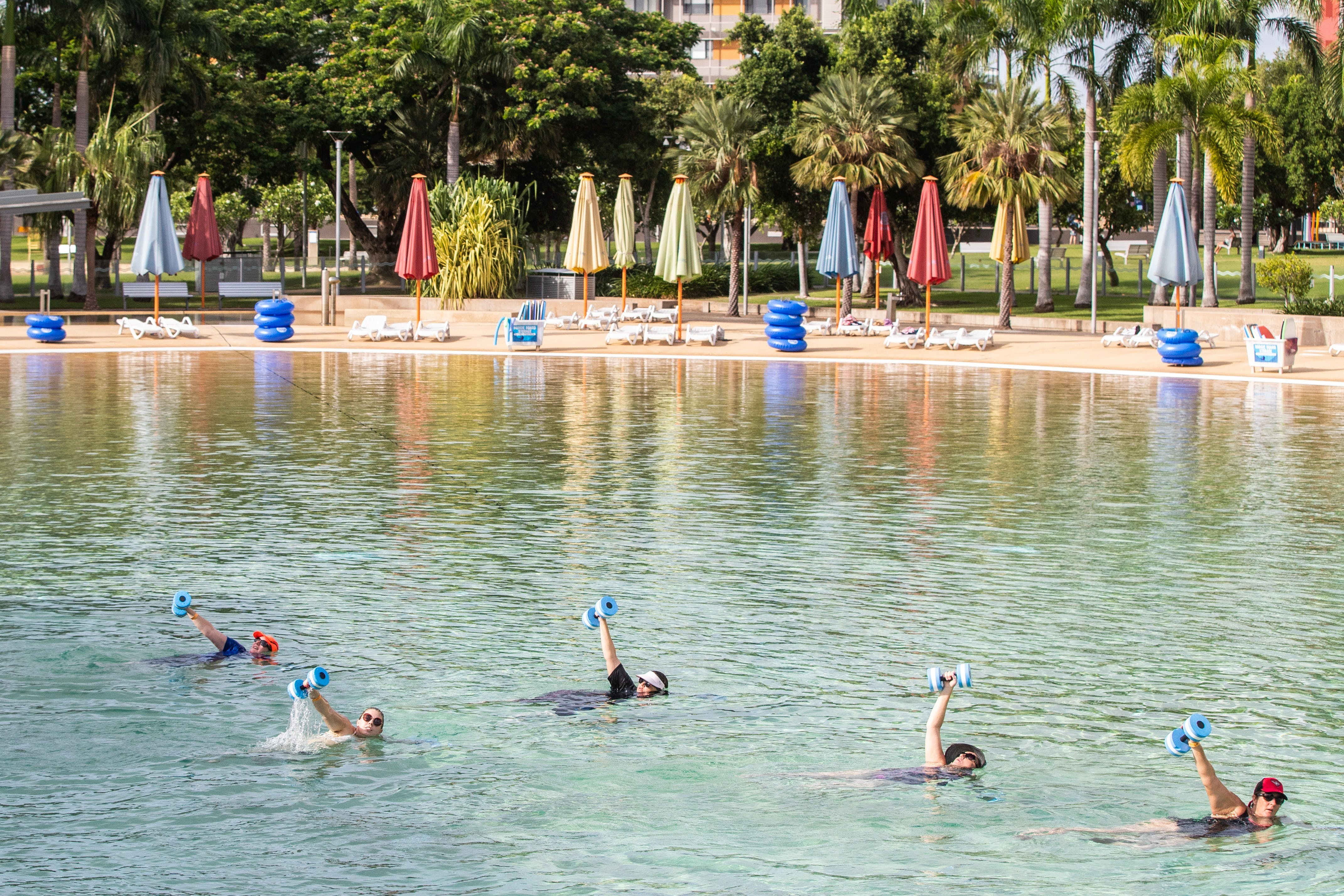 Aqua fitness in the Wave Lagoon - Tourism Bookings