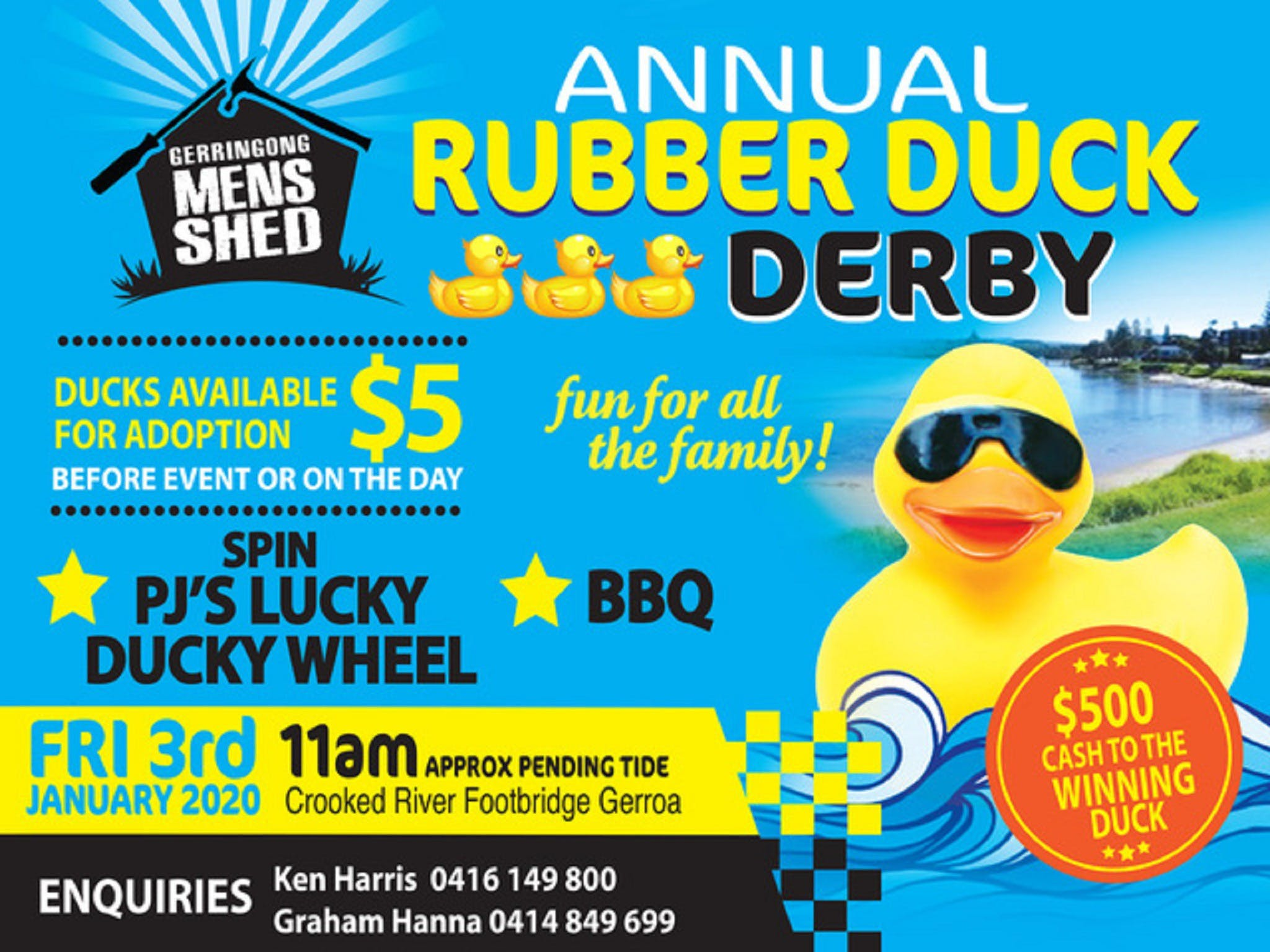 Gerringong Mens Shed Annual Duck Derby - Tourism Bookings